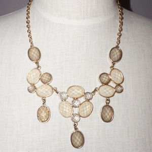 Charming Charlie Statement Necklace in Cream